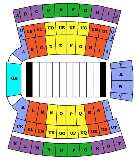 clemson seating chart valley clemson memorial stadium
