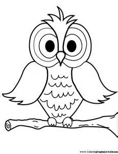owl pictures to color owl coloring pages