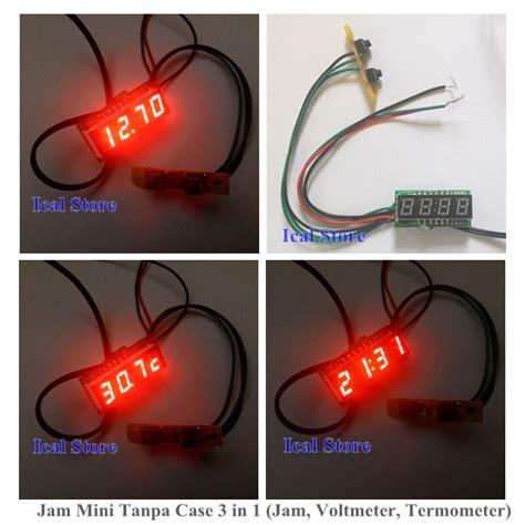 Jam Digital Kisi Ac Mobil Dengan Termometer jam mini tanpa 3 in 1 jam voltmeter termometer