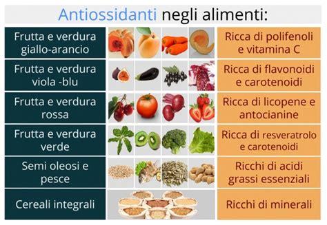 alimenti contro radicali liberi antiossidanti contro radicali liberi un calcio allo
