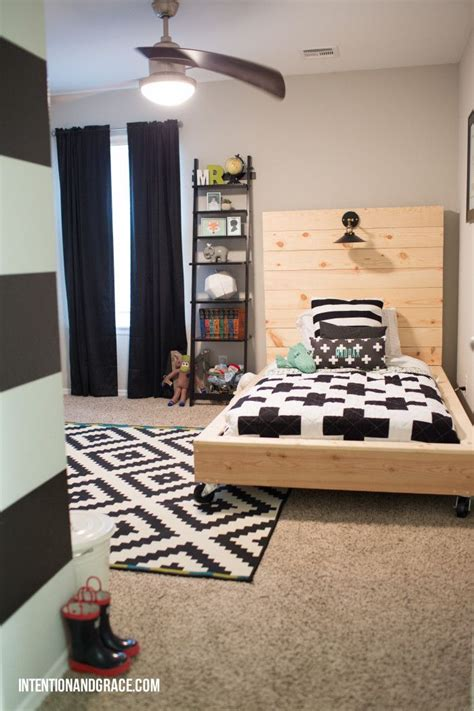 room ideas boy bedroom redo for a growing toddler boy transition from crib to bed intentionandgrace