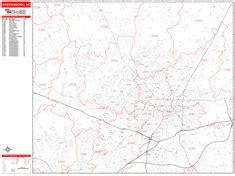 greensboro zip code map greensboro carolina zip code wall map line