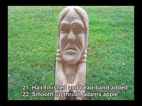 wood carve  indian walking stick youtube