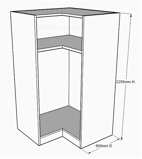 L Shaped Wardrobes by 936mm L Shape Corner Wardrobe