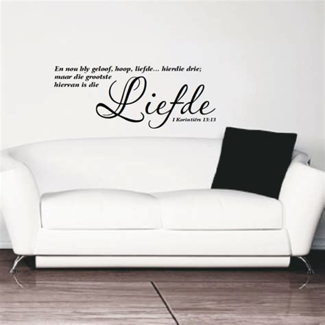 wall stickers south africa wall decals vinyl decals wall stickers afrikaans liefde 1 korintiers 13 13 was sold
