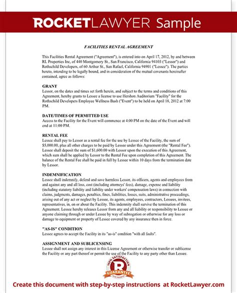 venue rental agreement template venue contract template venue rental contract agreement