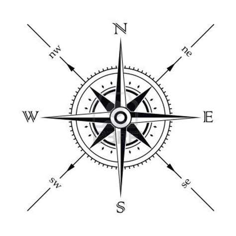 compass rose tattoo design vector wind compass silhouette stock photo 3282536