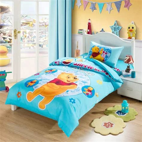 Set Bed Cover Karakter Pooh sweet winnie the pooh comforter bedding set single size quilt duvet covers coverlet