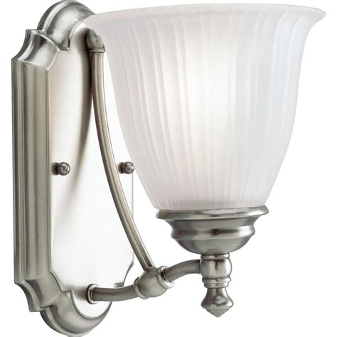 renovation lighting progress lighting renovations collection 1 light antique nickel vanity fixture p3016 81 the