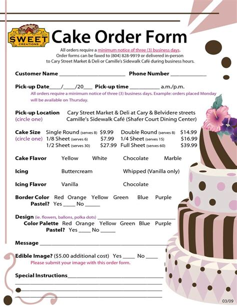 cake price list template best 25 cake pricing ideas on cake servings