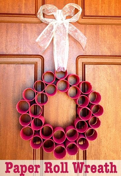 decorations paper roll wreath