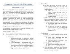 Pre Marriage Counseling Worksheets by Free Christian Marriage Counseling Worksheets