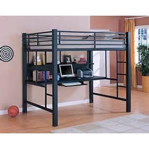 Bed Above Desk Save Big On Twin Over Desk Metal Loft Bed Black
