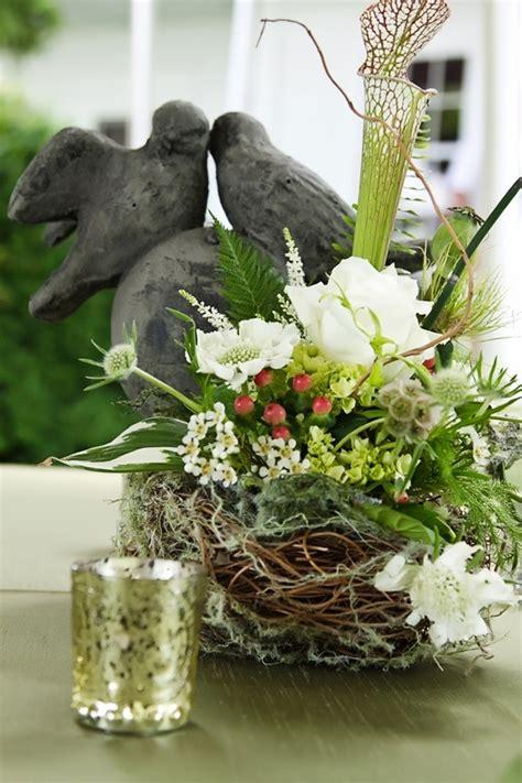 rustic floral bird nest 21 rustic wedding centerpiece