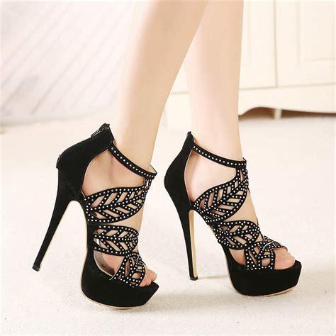 Sale Sendal High Heels T14 Black ropa para gorditas 187 tacones de plataforma para chicas