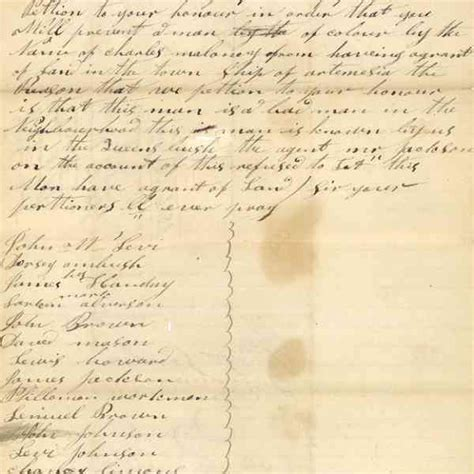 Neighbourhood Petition Letter 1851 correspondence to george snider crown land