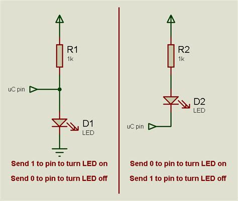 pull up or resistor how to connect an led using a pull up resistor