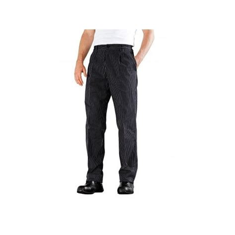 vetement de cuisine bragard pantalon de cuisine 224 plis noir 233 funandoc de bragard