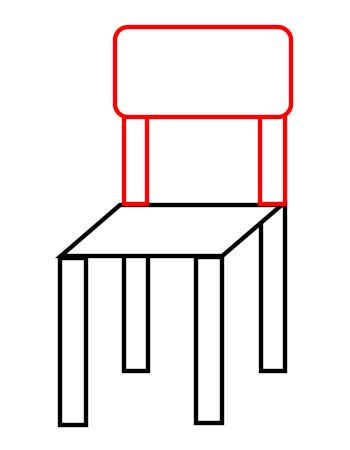 stuhl zeichnung drawing a chair