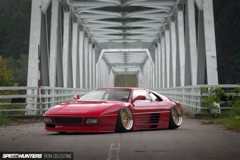 stanced ferrari drawn ferarri stanced car pencil and in color drawn