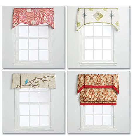 pattern window curtains m6299 window treatments home decorating mccall s