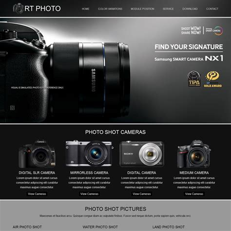 Rt Photo Joomla Photography Templates Photography Template
