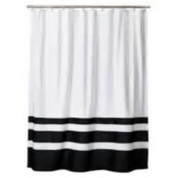 Black and white striped shower curtain ebay