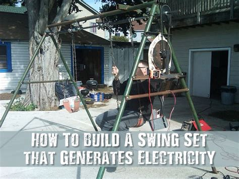 swing around fun time how to build a swing set that generates electricity shtf