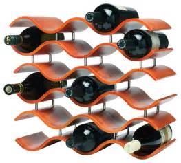 Black Metal Dining Room Chairs Bali Wave 15 Bottle Wine Rack Orange Tropical Wine