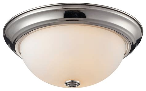 Flush Mount Bathroom Lighting Athena Chrome 2 Light Flush Mount Contemporary Bathroom Lighting And Vanity Lighting