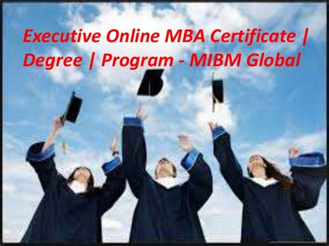 Executive Mba Degree by Executive Mba Certificate Degree Program Scope For
