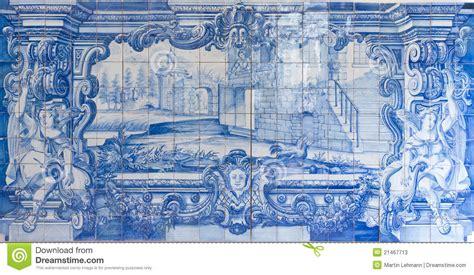 Fliese Portugal by Blaue Handgemalte Fliesen Azulejos Stockbild Bild 21467713