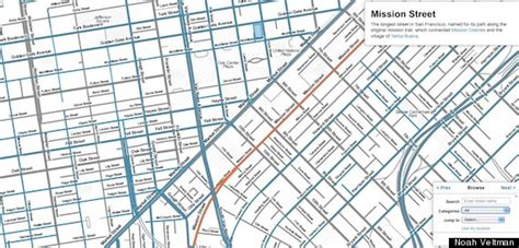 san francisco map ness san francisco names map reveals city s