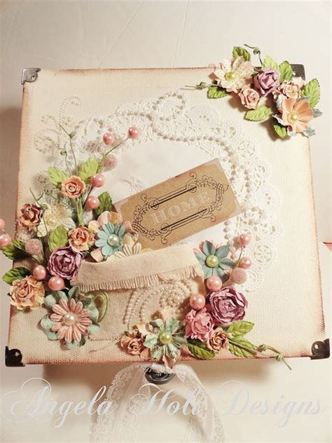 Vintage Handmade - shabby chic vintage handmade card using flowers by