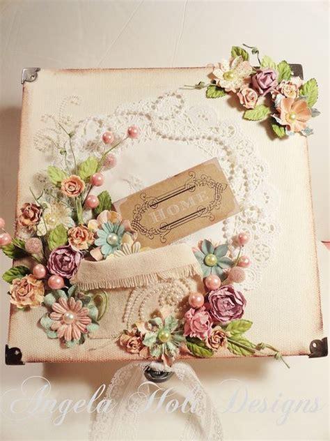Handmade Vintage - shabby chic vintage handmade card using flowers by
