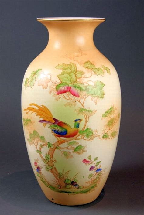 Crown Ducal Vase by A Crown Ducal Ware Pheasant Decorative Arts