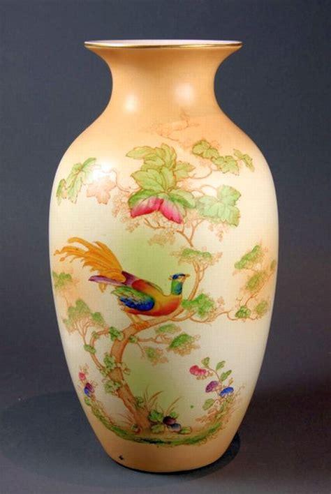 Crown Ducal Vase a crown ducal ware pheasant decorative arts philips auctions australia antiques