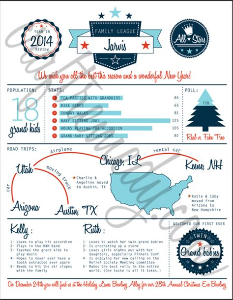 Christmas Newsletter Year In Review Infographic Templates Craft Remedy Year In Review Template Free