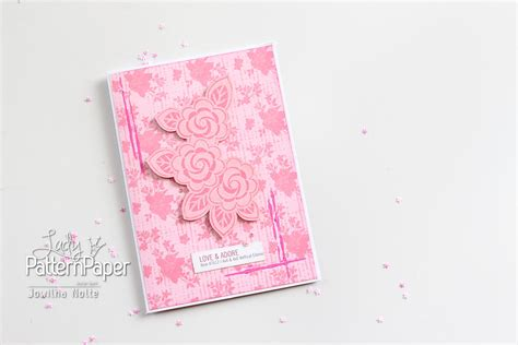 Where Can I Buy A Pink Gift Card - love and adore a pretty pink card lady pattern paper scrapbooking paper