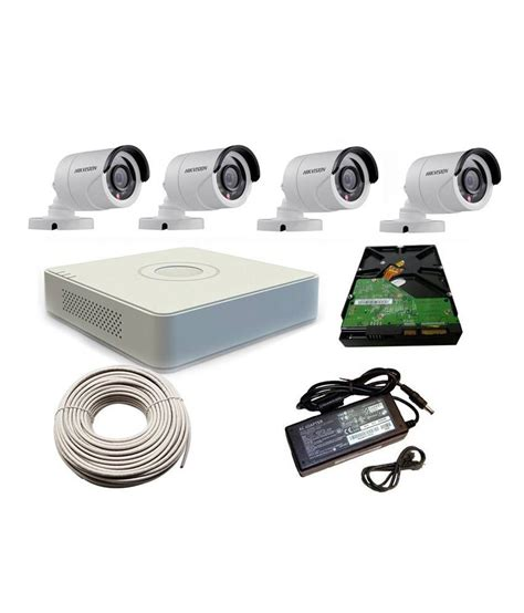 Cctv Hikvision hikvision 4 channel cctv kit price in india buy