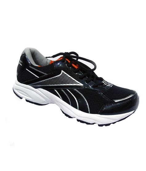 black sport shoes buy reebok black sport shoes for snapdeal