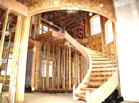 Simple Inexpensive House Plans modern simple spiral staircase design with handrails
