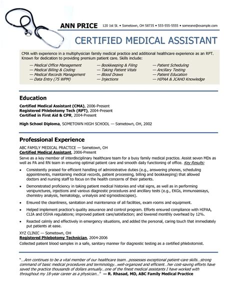 the awesome resume template medical assistant resume