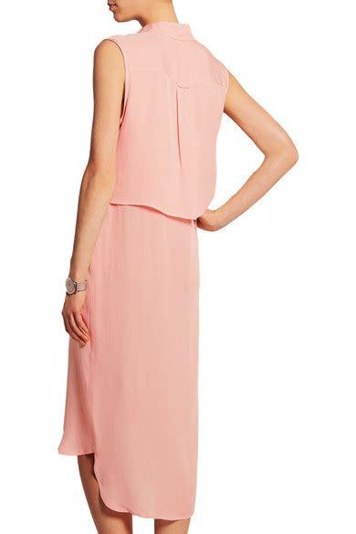 Mcqueens Draped Silk Dress As Seen On Liu And Miller by Mcq Mcqueen Draped Silk Chiffon Shirt Dress