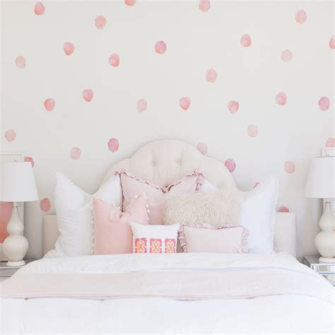 polka dot wall decals for rooms watercolor polka dots wall decals project nursery