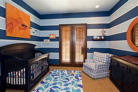Nautical Themed Interior Design by 20 Chic Nursery Ideas For Those Who Adore Striped Walls