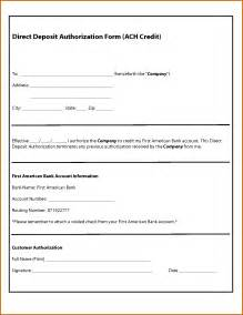 12 sample direct deposit authorization form lease template