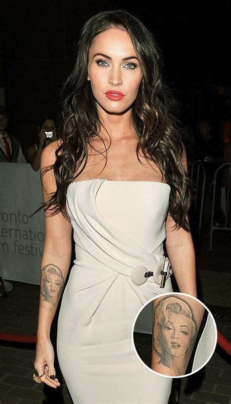 megan fox tattoo removed megan fox is marilyn removed because she
