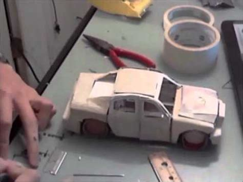How To Make A Paper Model Car - building a model car made of paper time lapse