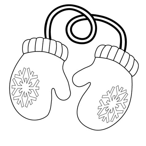 coloring pages of mittens and hats mittens pictures page